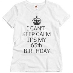 It's my 65th birthday