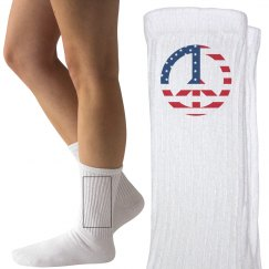 Peaceful Patriot Socks