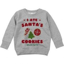 I Ate Santa's Cookies Toddler