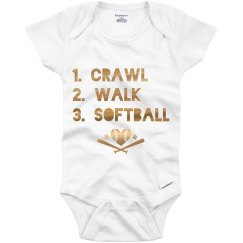 Metallic Softball Onesie