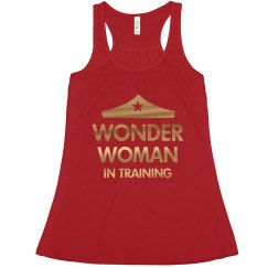 Wonder Woman Workout Metallic Tank