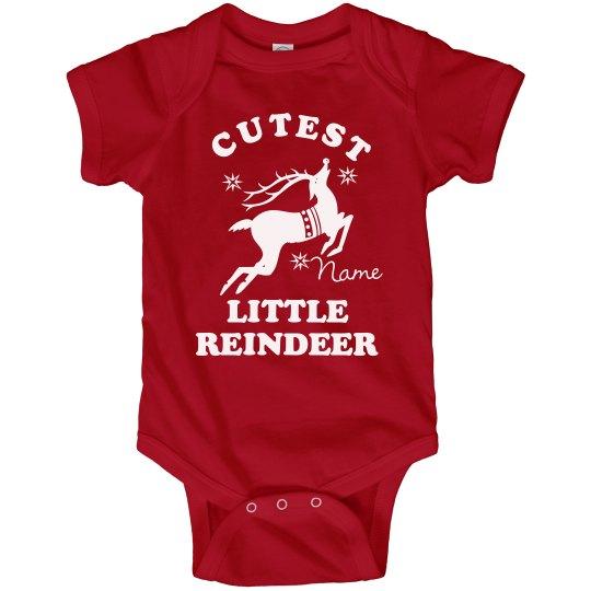 095f27ec5 Little Reindeer Onesie Infant Fine Jersey Bodysuit