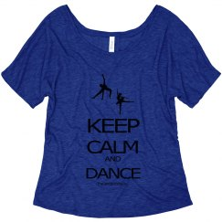 Keep Calm and Dance misses slouchy tee