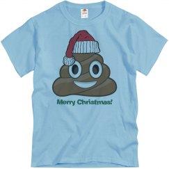 Lg Santa Poop Clause  blue