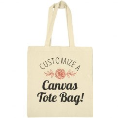 Customize a Canvas Tote Bag