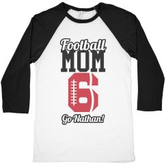 A Football Mom's Pride With Custom Name and Number Art