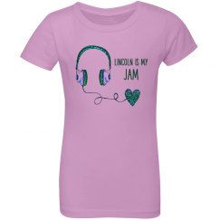 GIRLS: Lincoln Is My Jam Tee (more colors)