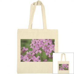 Tote with 2 sided flower photo