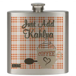 Just Add Kahlua Flask