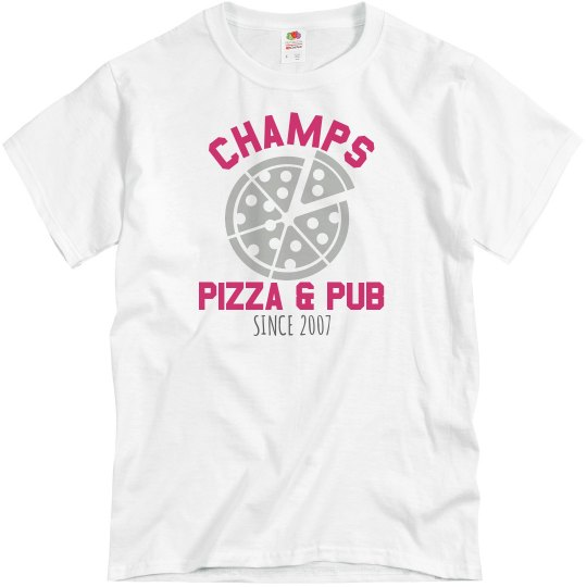 Champs 1 - Grey & Hot Pink