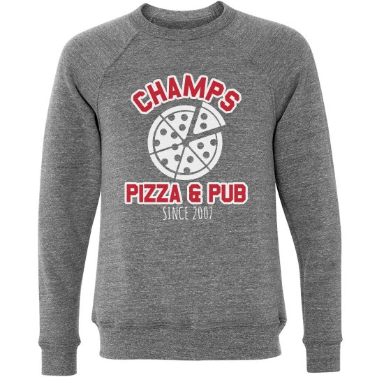 Champs 1 - Grey, Red & White sweatshirt