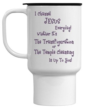 Channel Jesus Travel Mug