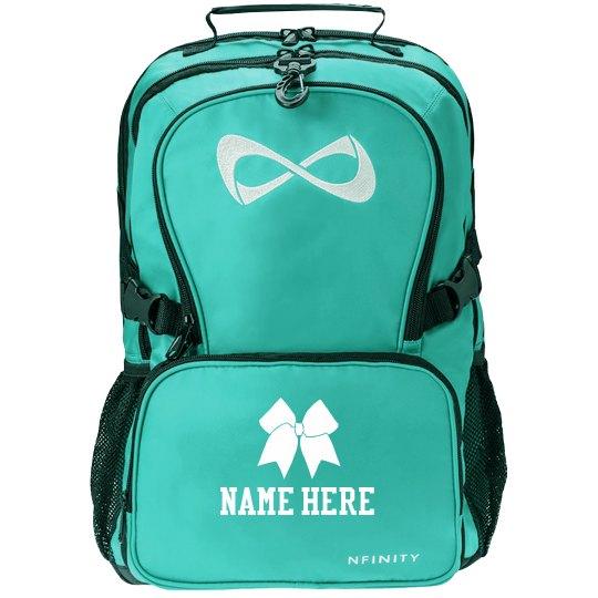 Cheer Bow Custom Name Backpack