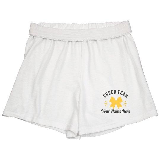 Cheer Bow Custom Name Shorts