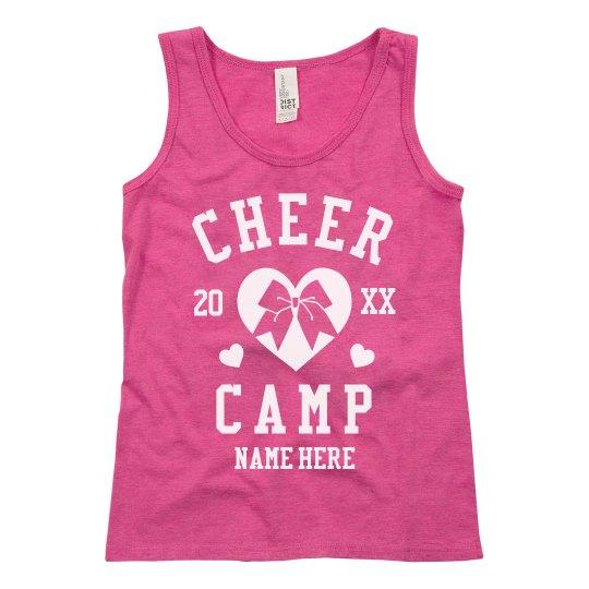Cheer Camp Customizable Girl's Tanks