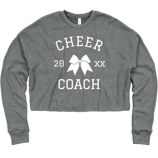 Cheer Coach Custom Crop Sweatshirt