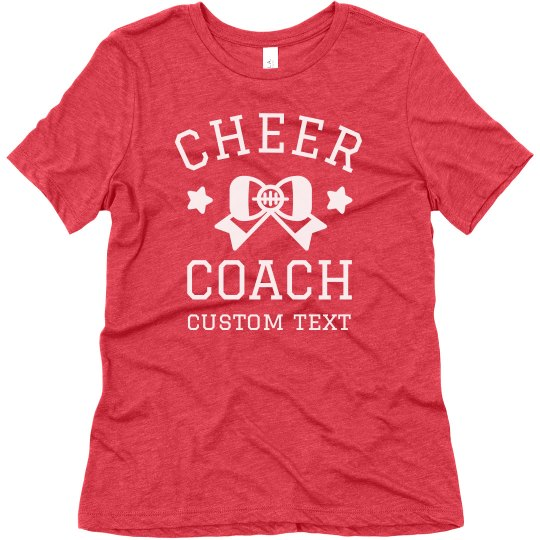 Cheer Coach Custom Tee