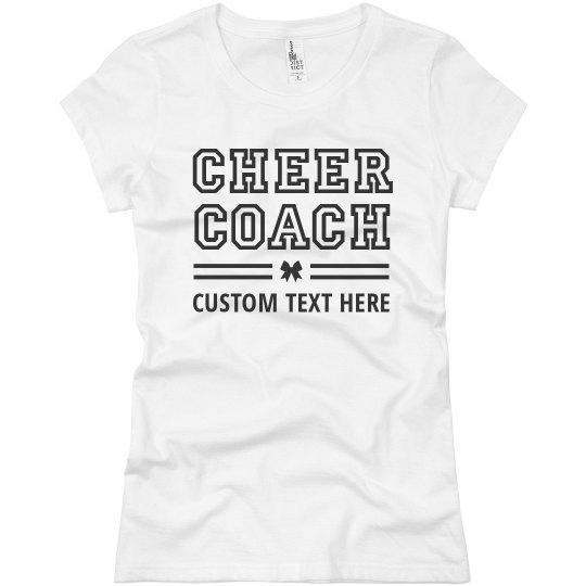 Cheer Coach Custom Text Cheerleader