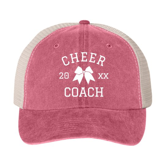 Cheer Coach Custom Year Hat