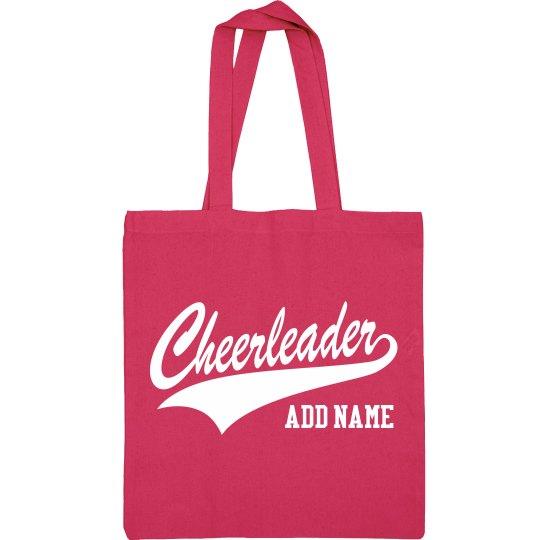 Cheer Custom Name Cheerleader Bag