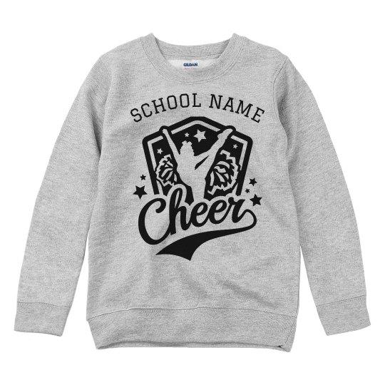 Cheer Custom School Kids Youth Sweatshirt