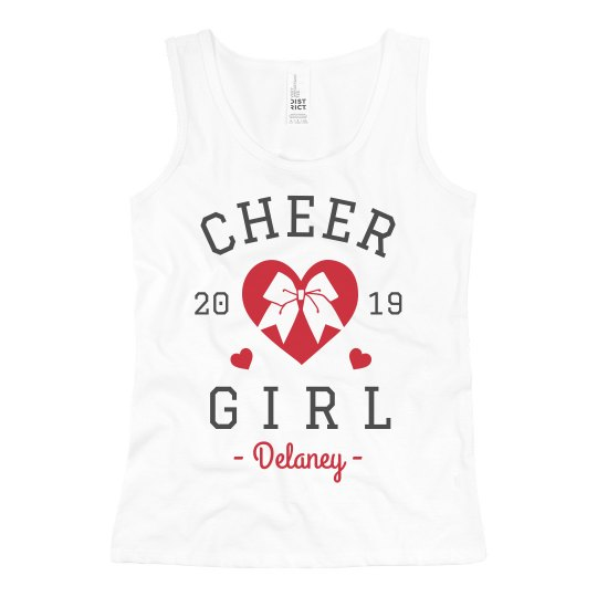 Cheer Girl Custom Kid's Cheerleading Tank