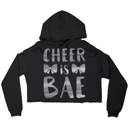 Cheer Is Bae Custom Crop Sweatshirt