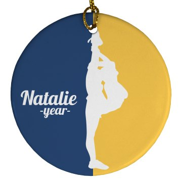 Cheer Needle School Colors Ornament With Name