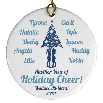 Cheer Team Members Squad Gift With Custom Names