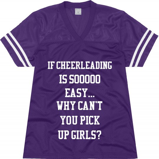 Cheer. You wont get it