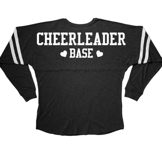 Cheerleader Base Cheer Girl Squad Long Sleeve Slub