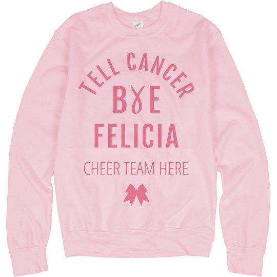 Cheerleader Breast Cancer Awareness