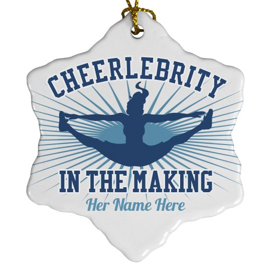 Cheerleader Christmas Ornament With Custom Name