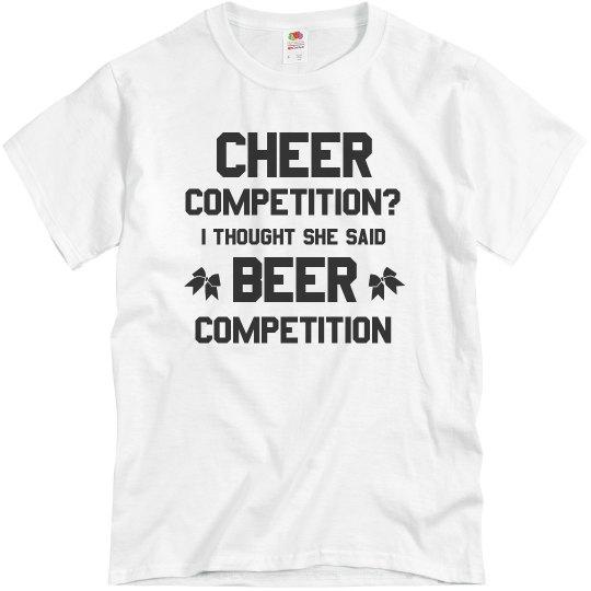 Cheerleader Dad Beer Competition