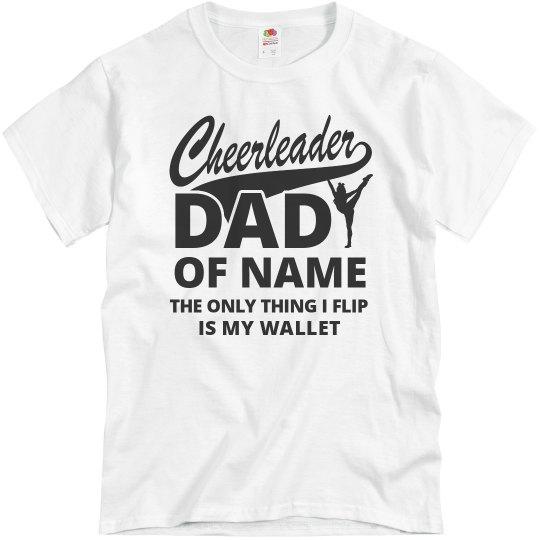 Cheerleader Dad Of Custom Name