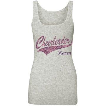 Cheerleader Leopard Logo