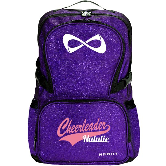 Cheerleader Logo Custom Nfinity Sparkle Cheer Backpack