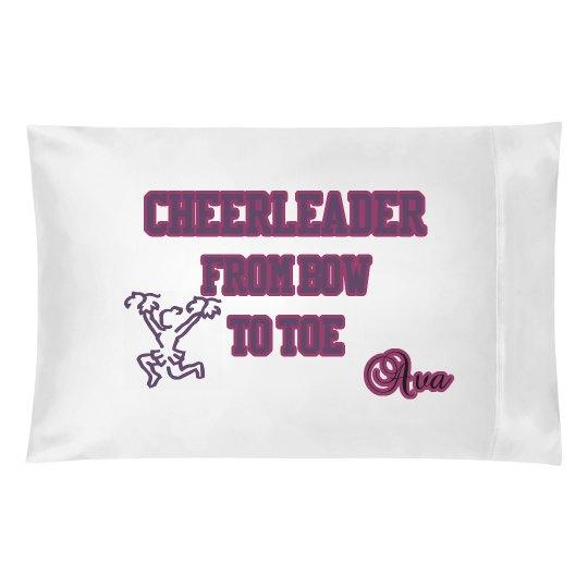 Cheerleader pillowcase