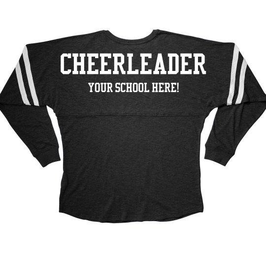 Cheerleader Spirit Custom Text