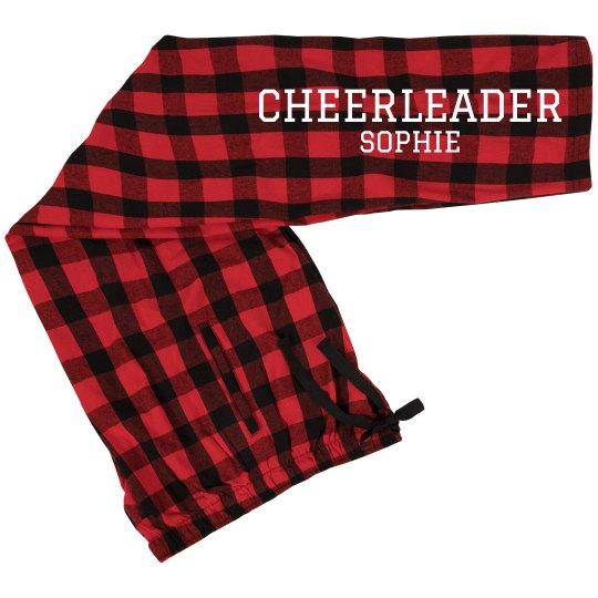 Cheerleader with Personalized Name