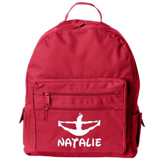 Cheerleader's Custom Cheer Gear Bag With Name