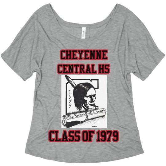 Cheyenne Central HS Womens Flowy T-Shirt