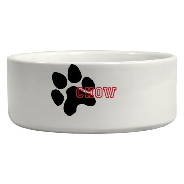 """Chow"" dog food bowl"