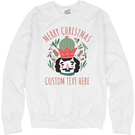 Christmas Cactus Nutcracker Sweater