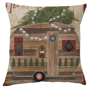Christmas Camper Pillow Cover