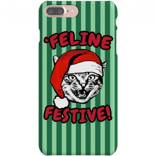 Christmas Cat iPhone Case
