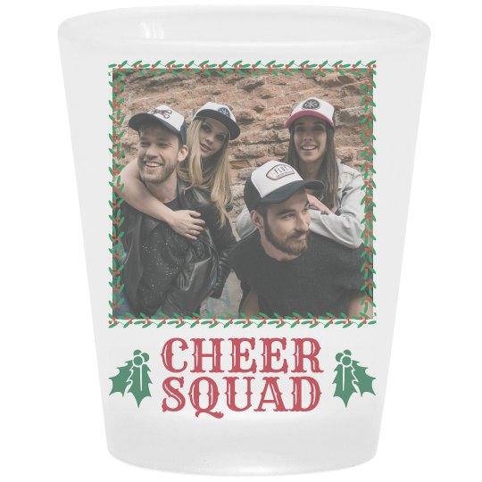 Christmas Cheer Squad Custom Shot Glass