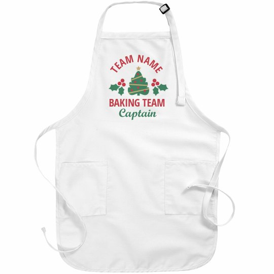 Christmas Cookie Baking Team Custom Aprons