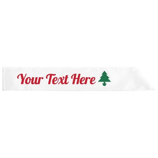 Christmas Custom Sash