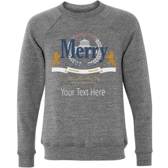 Christmas Custom Text Beer Sweater